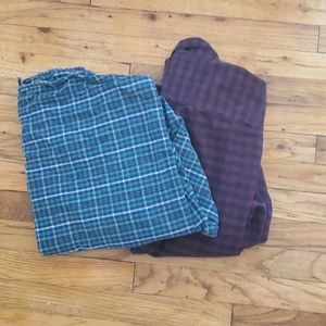 L.L. bean mens large longsleeve shirts 2 pairs